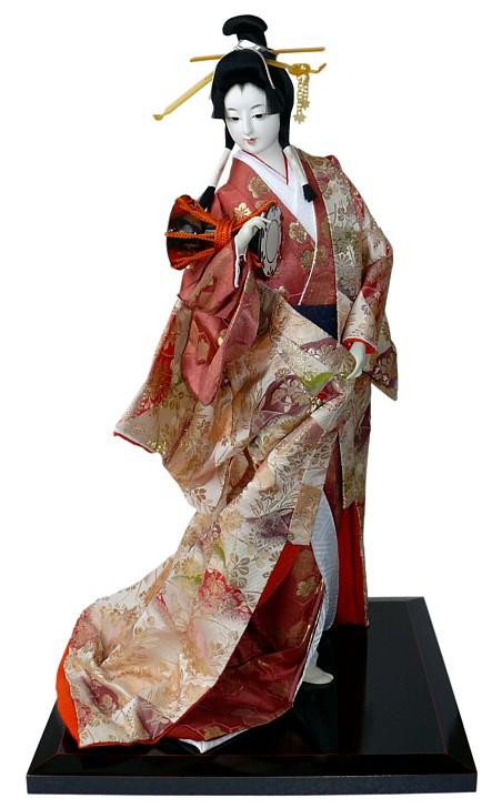 Red-JD0022-6 JG.Eshadoll 22inch 58cm Japanese Geisha Doll Furnishing Articles Random Various Style