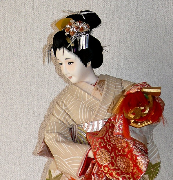 Japanese Hand Painted Wooden Light Cover