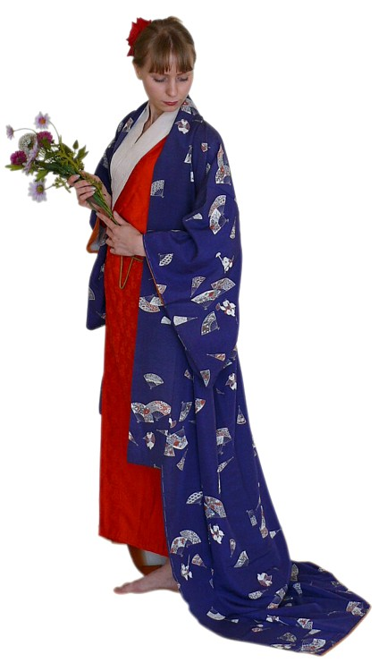 Japanese Woman S Traditional Silk Kimono Vintage