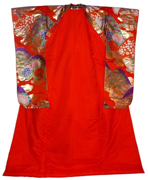 Japanese Wedding Gown: Japanese Traditional Wedding Kimono Gown. Japanese Vintage