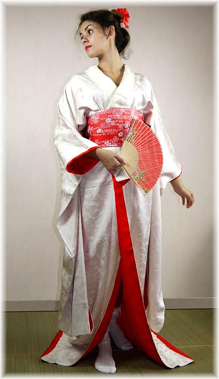 Japanese wedding white silk kimono,1970\'s. The Black Samurai online ...