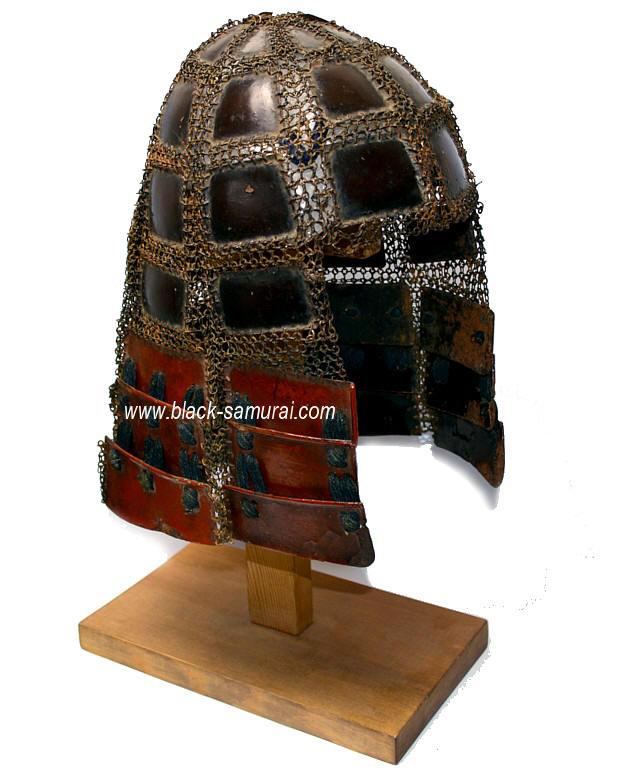 Japanese Samurai Warrior Iron Hood Helmet Karuta Zukin