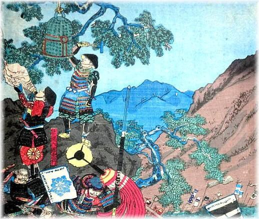 Japanese Samurai Warriors And Yamabushi Monks Signal Shell